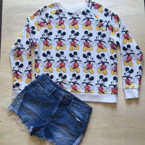 Shorts Mickey Mouse sweater